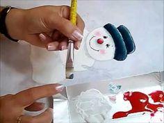 Pintura em Tecido - BONECO DE NEVE - How to paint Christmas - YouTube