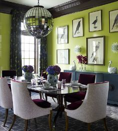 Lime green walls...katie ridder, designer.