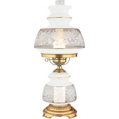 """Quoizel SL702 Satin Lace 1 Light 24"""" Tall Hurricane Lamp with Night Light French Gold Lamps Table Lamps NULL"""