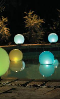 Solar Glowing Globes.