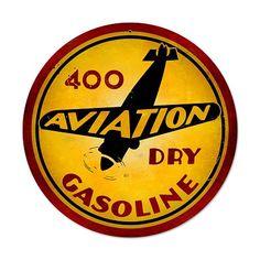 Aviation Gasoline Vintage Metal Sign