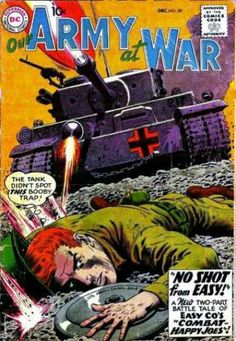 America has a long and rich tradition of producing compelling war comics. War comic books have been around almost as long as comic Vintage Comic Books, Vintage Comics, Comic Books Art, Comic Art, Dc Comics, Horror Comics, Silver Age Comics, Western Comics, Adventure Movies