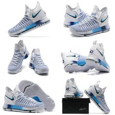 new product 3bf28 e01f6 New Nike Cheap KD 9 Elite Ice Blue White Pure Platinum Newest Kevin Durant  Shoes Popular