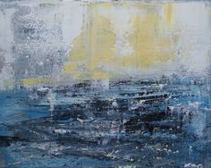 """""""On the Sea,"""" original abstract painting by artist  Madeleine Wories (USA) available at Saatchi Art #SaatchiArt."""