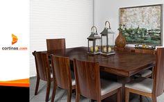 Nuestras cortinas enmarcan la luz también ayudan a definir la privacidad de un ambiente y su estilo. #ViewLovers Dining Table, Furniture, Home Decor, Shades, Lights, Style, Homemade Home Decor, Diner Table, Dinning Table Set