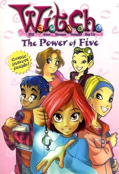 """""""The Power of Five"""" by Elizabeth Lenhard - Will is new to Sheffield institute, but quickly befriends Irma, Taranee, Cornelia, and Hay Lin, four girls with whom will learns to share her mysterious supernatural abilities. Together they discover that they need to protect Earth from the evil of Metamoor. The girls have to command their newly discovered powers in their first battle against evil. (Book One in the W.I.T.C.H. series)"""