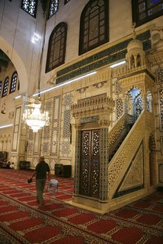 Umayyad Mosque, interior, Damascus.