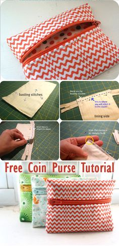 Free Coin Purse Tutorial Source by and purses Bag Patterns To Sew, Sewing Patterns, Zipper Pouch Tutorial, Diy Coin Purse Tutorial, Purses And Handbags, Cheap Handbags, Luxury Handbags, Celine Handbags, Popular Handbags