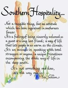 Southern Charm / karen cox. Southern Hospitality