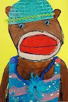Yr 3 Deep Space Sparkle – Sock Monkey Art Lesson