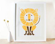Sass & Peril Large Lion Screenprint