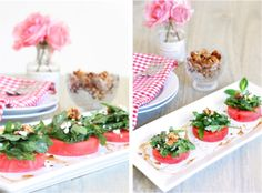 Watermelon Salad with Arugula, Goat Cheese, and Candied Walnuts - Against All Grain