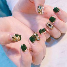 Fancy Nails Designs, Nail Designs, Les Nails, Nail Jewels, Art Addiction, Birthday Nails, Cute Acrylic Nails, Nail Arts, Short Nails