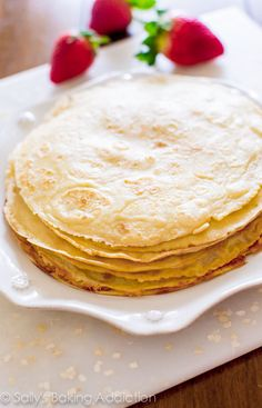 How To make Homemade Crepes! My favorite recipe. So simple.