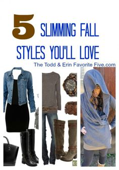 "5 Slimming Fall Styles To Love--why sweaters don't have to mean ""bulky."" The Todd & Erin Favorite Five"