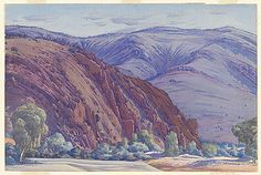 Albert NAMATJIRA, Quarritana, Finke River (Organ pipes)