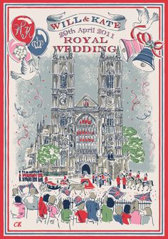 Cath Kidston Royal Wedding tea towel | Kate and Wills | 2012