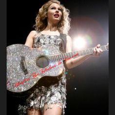 #TaylorSwifts #Guitar bedazzling in thousands of #Swarovski crystals  www.BlingOutTheFabulousInYou.com  #blingbling #queenofbling #crystalfetish #diamonds