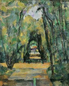 Paul Cézanne - L'Allée à Chantilly II (1888)