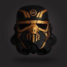 artist. designer. drummer.: ART:TECH X TK ARMOUR UK Custom Stormtrooper 1:1 helmet. Hand painted, mixed media. #artistechnology ...