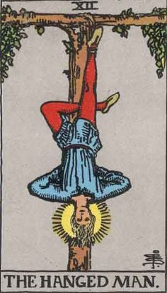 The Hanged Man (XII) is the twelfth trump or Major Arcana card in most traditional Tarot decks. It is used in game playing as well as in divination. It depicts a pittura infamante, a shameful image of a traitor being punished in a manner common at the time for traitors in Italy.