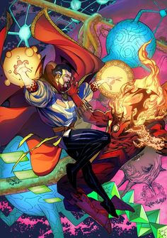 Doctor Strange vs Dormammu by SpiderGuile on DeviantArt Marvel Doctor Strange, Dr Strange, Marvel Comics Superheroes, Marvel Art, Marvel Heroes, Marvel Avengers, Dc Comics, Comic Book Characters, Marvel Characters