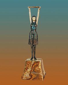 Chiparus-Bronze Sculpture First Flowers : Lot 255