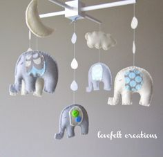 elephant nursery mobile, i can make this easily! :D