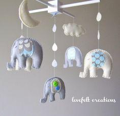 elephant nursery mobile