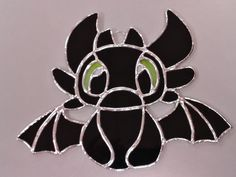 Toothless the dragon from How to Train Your Dragon Stained Glass