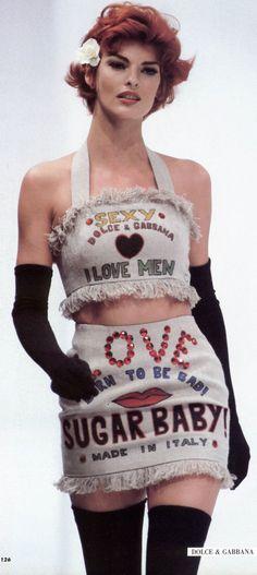 Linda Evangelista - Dolce & Gabbana Spring 1992