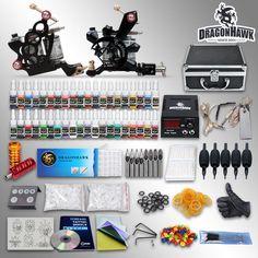 Learn To Tattoo Beginner Tattoo Starter Kits 2 Guns Machines 40 Ink Sets Equipment Power Supply Grips Tips Needles 10 24gd 1 Tatto Machine From Tattookits, $79.58| Dhgate.Com