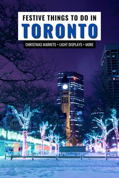 Discover the top things to do in Toronto for Christmas. From Christmas markets to festive holiday displays and giant Christmas trees - here are some festive Christmas locations in Toronto. I Christmas travel I things to do for Christmas in Toronto I Toronto Ontario I Ontario travel I light displays in Toronto I Christmas in Toronto I Christmas in Ontario I things to do in Ontario I places to go in Toronto I Christmas markets in Toronto I Toronto Christmas stops I #Toronto #Ontario #Canada Christmas Markets, Christmas Travel, Ontario Travel, Toronto Travel, Montreal, Vancouver, Canada Destinations, Canadian Travel, Visit Canada