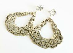 Brass Lace Earrings by EridaneasBoutique on Etsy