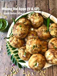 Moong Dal Appe-South Indian style – Food, Fitness, Beauty and More Indian Appetizers, Gluten Free Appetizers, Indian Snacks, Healthy Appetizers, Indian Food Recipes, Diwali Recipes, Ethnic Recipes, Lentil Recipes, Vegetarian Recipes