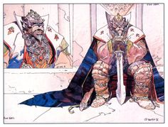 George Lucas approached Moebius in the late 1980s to work on his fantasy film Willow. http://filmsketchr.blogspot.com/2012/04/moebius-willow-illustrations-are.html