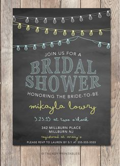 Pin and save: Pin this link and use code THANKS4PINNING to save 10% on your purchase!  https://www.etsy.com/listing/231071564/bridal-shower-invitation-string-lights?ref=shop_home_active_4