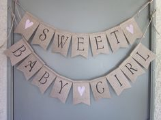 Baby Girl Shower Banner Sweet Baby Girl by QuaintConfections