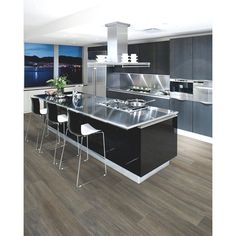 Euro Collection 5.75-in x 51.5-in Extreme 12mm Cantina-Grey Oak Laminate Flooring | Lowe's Canada