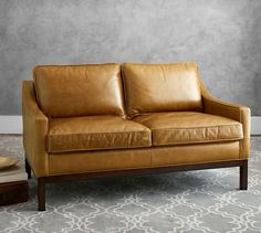 Dale Leather Loveseat | Pottery Barn
