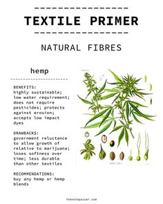 Textile Primer: Natural Fibres | thenotepasser.com