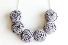 Hey, I found this really awesome Etsy listing at https://www.etsy.com/listing/206498474/gray-necklace-gray-fabric-flower