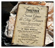 Top 10 Burlap Wedding Invitations |