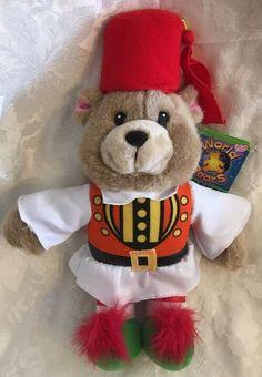 "RARE Sugar Loaf World Bears Greece Teddy BEAR Multicolored 14"" Plush 2008  | eBay"