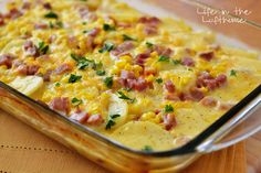If this beautiful dish doesn't sing to you, than I don't know what will. These scalloped potatoes are a meal all in one, and one fine meal might I add. :) The addition of ham and corn ...