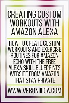 Workout List, Workouts, Chronic Migraines, Chronic Illness, Amazon Alexa Skills, Educational Technology, Assistive Technology, Alexa Voice, Different Exercises