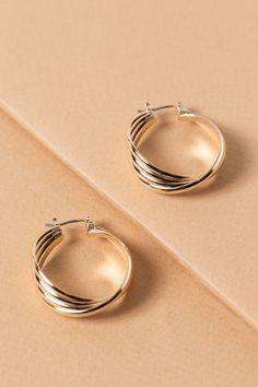 b4efe434d Cultivated Hoop Earrings $12 Gold Hoop Earrings, Pearl Earrings, Metal  Crafts, Bling,