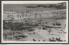 Crooklets Beach, Bude, Cornwall, c.1950s - RP Postcard