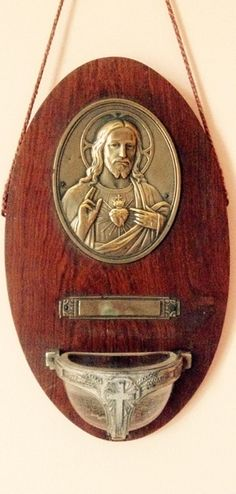 Old French Holy Water font from video and blog on Caholic Tradition here ... http://corjesusacratissimum.org/2017/06/on-counter-revolution-catholic-france-holy-water-and-joseph-de-maistre/