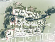 Plans Revealed for Denmark's Delta District in Vinge